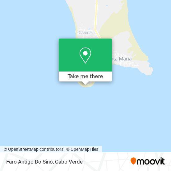 Faro Antigo the Sinó mapa