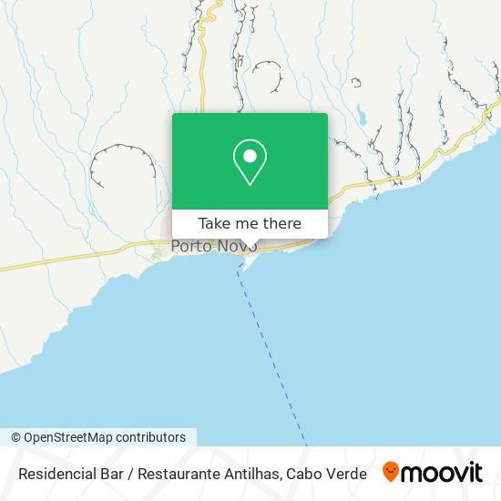 Residencial Bar / Restaurante Antilhas mapa