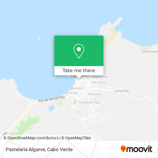 Pastelaria Algarve mapa