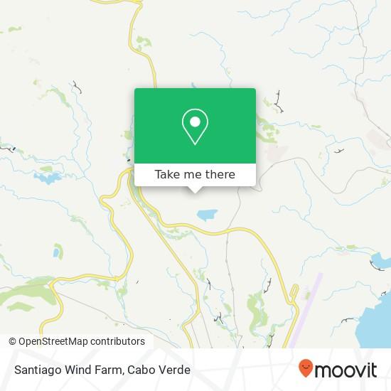 Santiago Wind Farm mapa