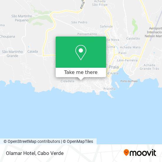 Olamar Hotel mapa