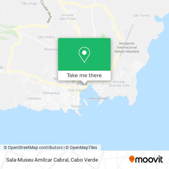 Sala-Museu Amílcar Cabral mapa