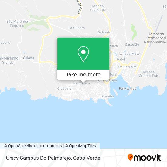 Unicv Campus Do Palmarejo mapa