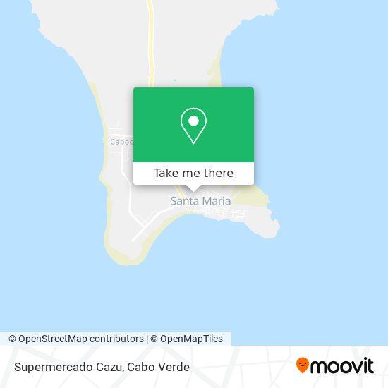 Supermercado Cazu mapa
