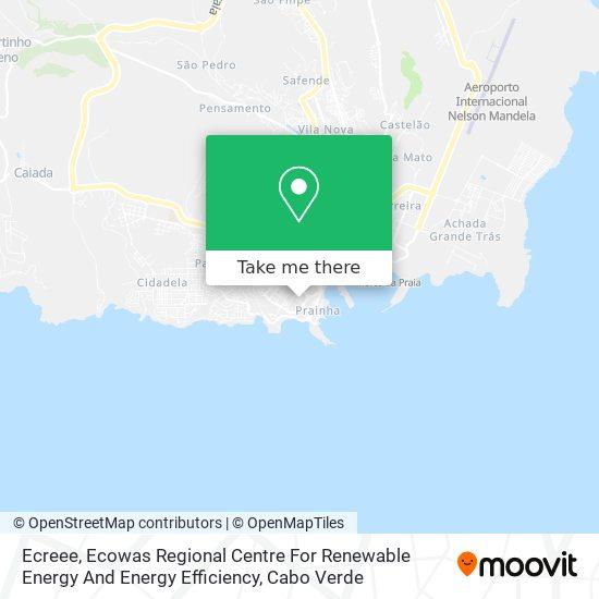 Ecreee, Ecowas Regional Centre For Renewable Energy And Energy Efficiency mapa