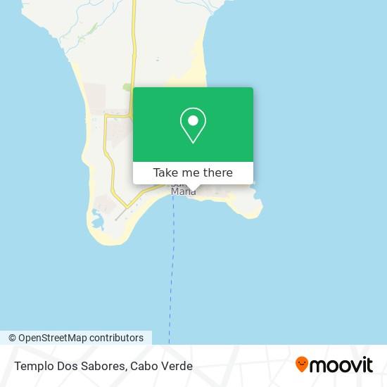 Templo Dos Sabores mapa