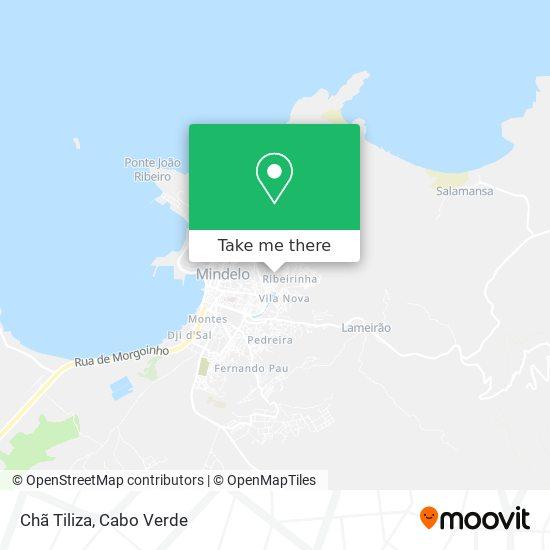Chã Tiliza mapa
