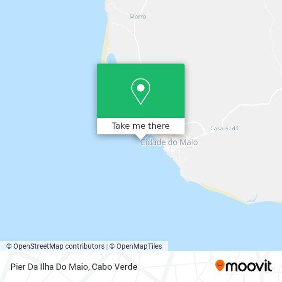 Pier Da Ilha Do Maio mapa
