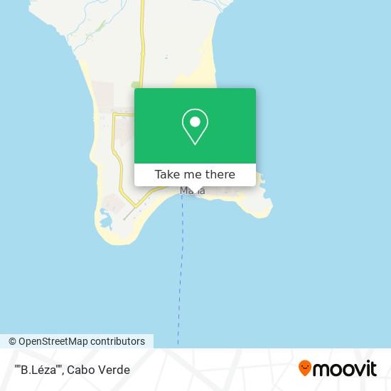 """""""""""B.Léza"""""""" mapa"""