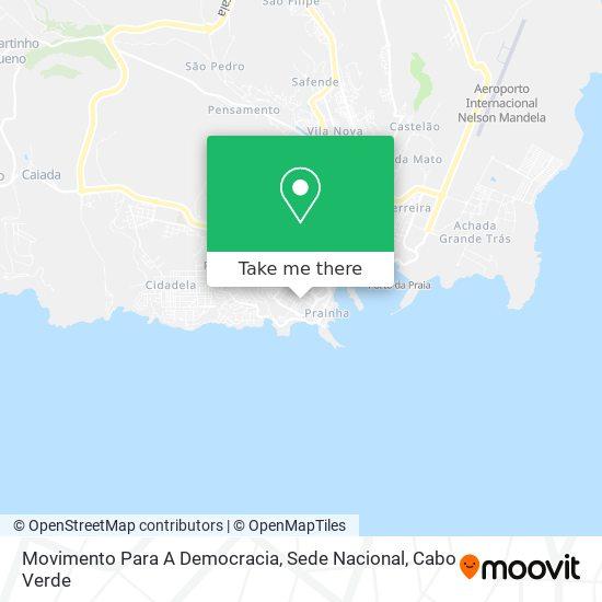 Sede Nacional Mpd mapa