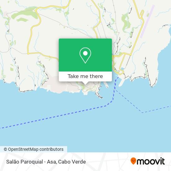 Salão Paroquial - Asa mapa