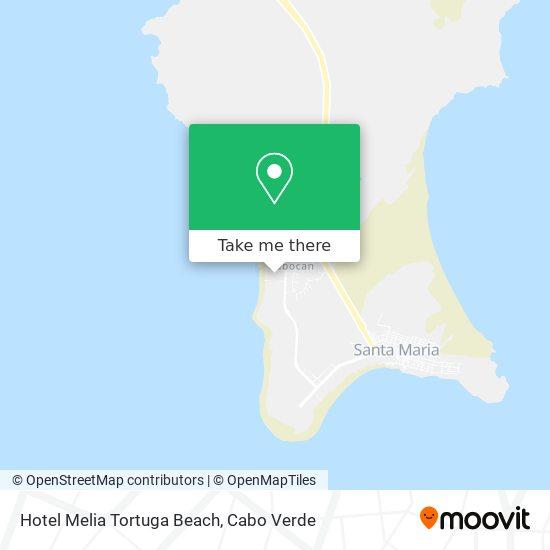 Hotel Melia Tortuga Beach mapa