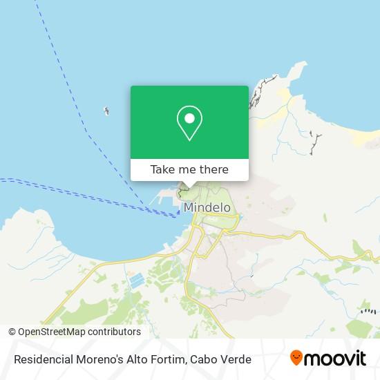 Residencial Moreno's Alto Fortim mapa