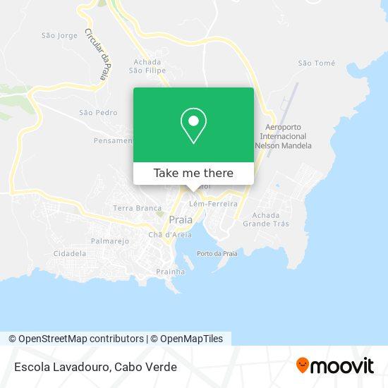 Escola Lavadouro mapa