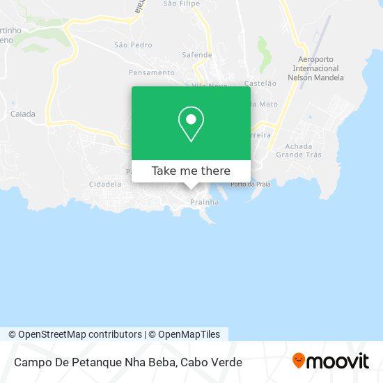 Campo De Petanque Nha Beba mapa