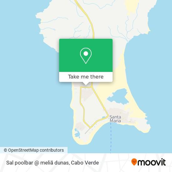 Sal poolbar @ meliã dunas mapa