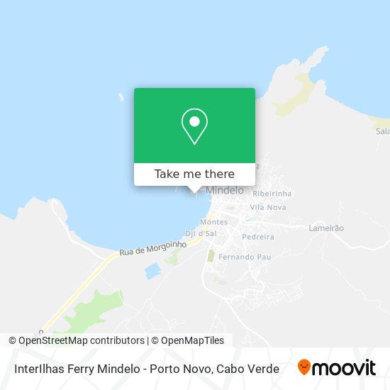 InterIlhas Ferry Mindelo - Porto Novo mapa