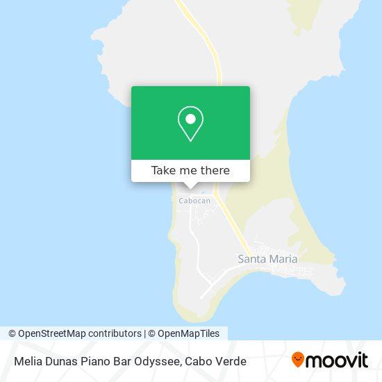 Melia Dunas Piano Bar Odyssee mapa
