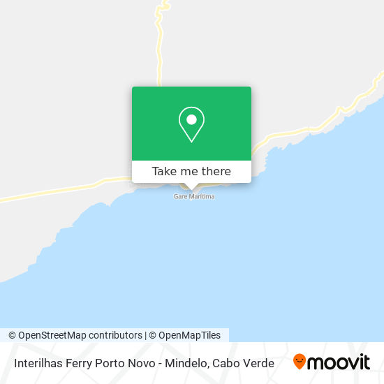 Interilhas Ferry Porto Novo - Mindelo mapa