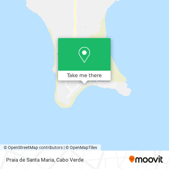 Praia de Santa Maria mapa