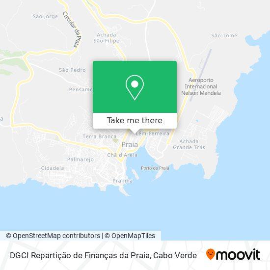 DGCI Repartição de Finanças da Praia mapa