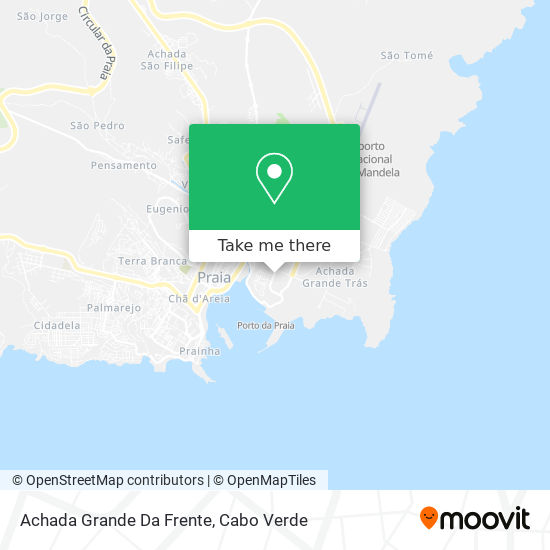 Achada Grande Da Frente mapa