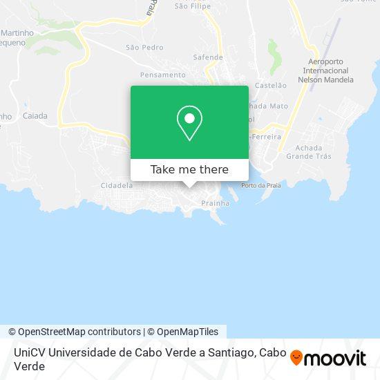 UniCV Universidade de Cabo Verde a Santiago mapa
