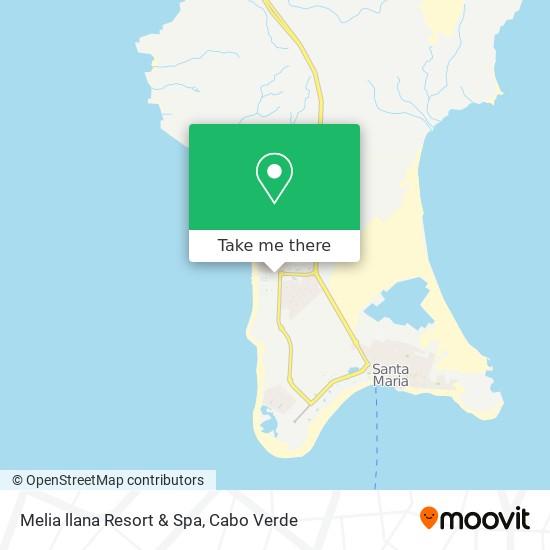 Melia llana Resort & Spa mapa