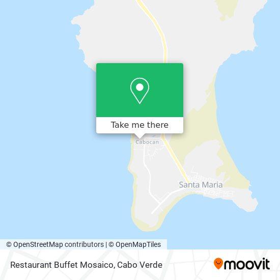 Restaurant Buffet Mosaico mapa