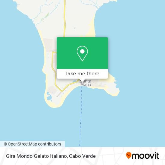 Gira Mondo Gelato Italiano mapa