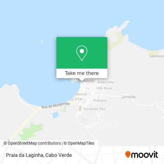 Praia da Laginha mapa