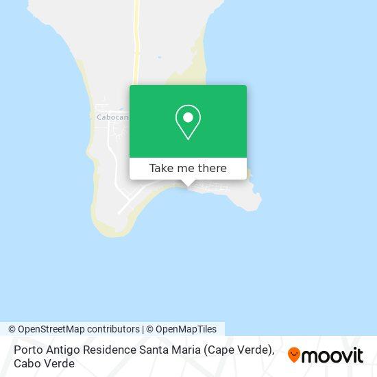 Porto Antigo Residence Santa Maria (Cape Verde) mapa