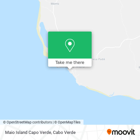 Maio Island Capo Verde mapa