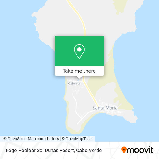 Fogo Poolbar Sol Dunas Resort mapa