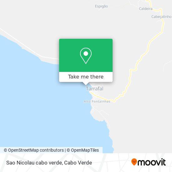 Sao Nicolau cabo verde mapa