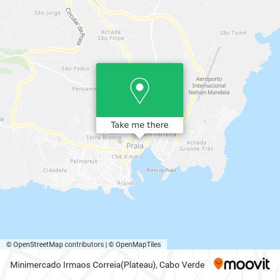 Minimercado Irmaos Correia(Plateau) mapa