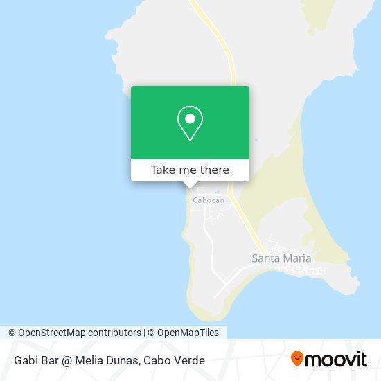 Gabi Bar @ Melia Dunas mapa