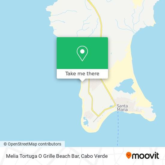Melia Tortuga O Grille Beach Bar mapa