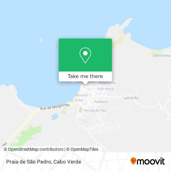 Praia de São Pedro mapa