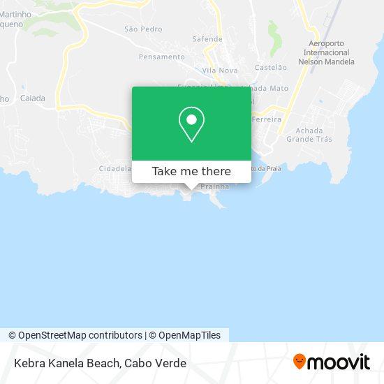 Kebra Kanela Beach mapa
