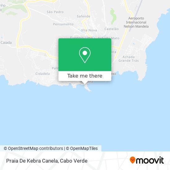 Praia De Kebra Canela mapa