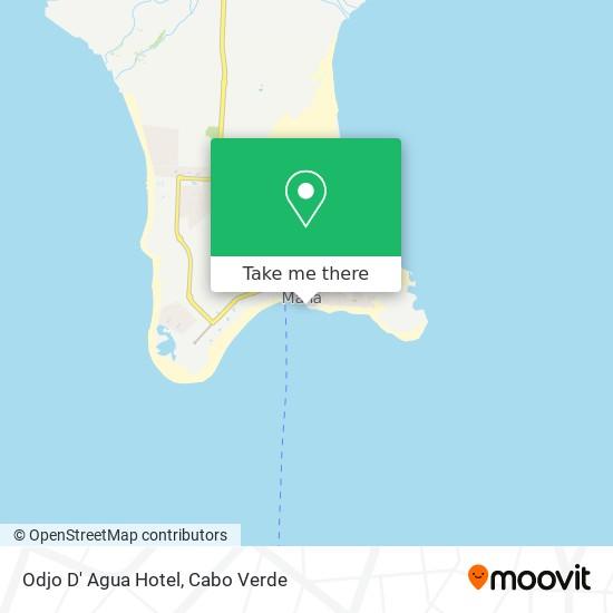 Odjo D' Agua Hotel mapa