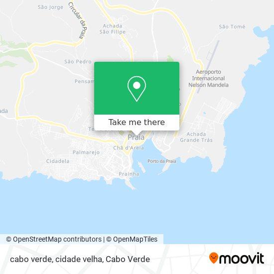 cabo verde, cidade velha mapa