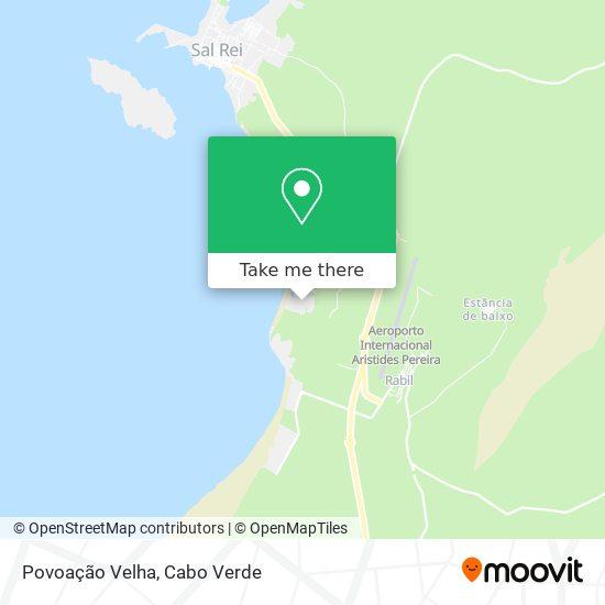 Povoação Velha mapa