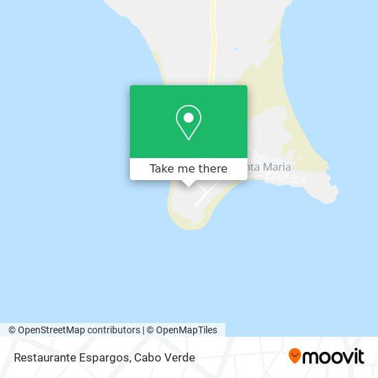 Restaurante Espargos mapa