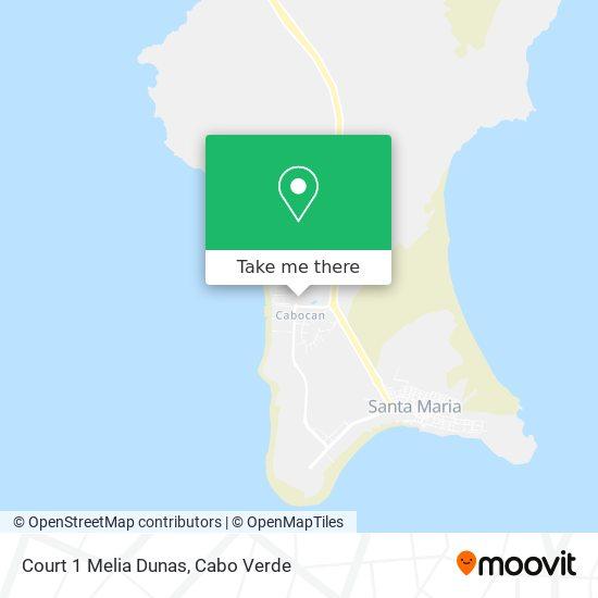 Court 1 Melia Dunas mapa