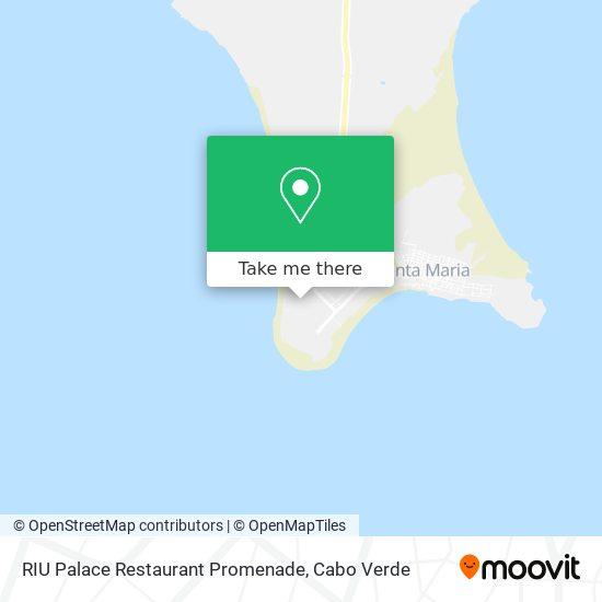 RIU Palace Restaurant Promenade mapa