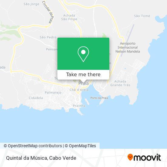 Quintal da Música mapa