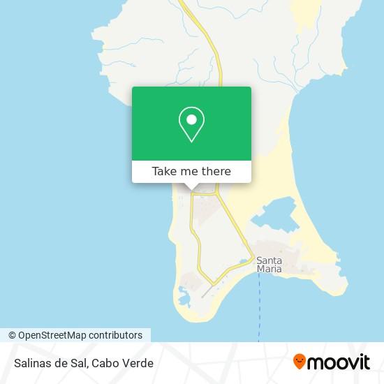 Salinas de Sal mapa
