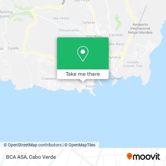 BCA ASA mapa